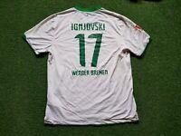 Sv Werder Brema Maglia XL 2011 2012 Nike Maglietta Jersey Targobank Ignjovski