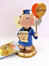 Angel Cheeks Graduation Blue Gown figurine Russ Berrie tag free gift bag new