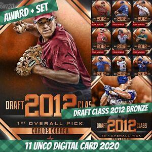 Topps Bunt Carlos Correa Award + Set (1+10) Draft Class 2012 Bronze 2020 Digital
