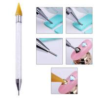 Nail Art Rhinestone Picker Wax Pencil Dual-ended Dotting Pen Crystal Bead Handle