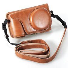 Brown Pu Leather Camera Case Strap for Samsung Galaxy EK-GC100 GC100 CT0AU H4S5