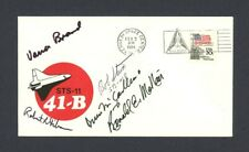 Ronald McNair + crew signed Sts-11 41-B Challenger cachet cover Fdc