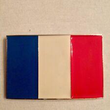 Boucle de ceinture France / Drapeau / Ceinturon / METAL / 10 cm X 7 cm