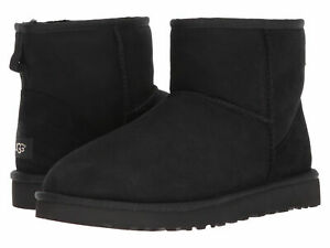 Men UGG Classic Mini Boot Suede SheepSkin 1002072 Black 100% Authentic Brand New