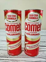 2 Vintage COMET CLEANSER W/ Chlorinol Disinfects RED LABEL Factory Sealed NEW