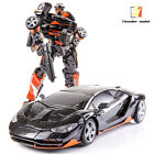 TH01 Hot Rod Black Lambor Alloy ko UTDX9 Deformable Robot 7in Figure Collect Toy
