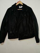 TOPMAN Black PU Biker Jacket RRP £65 Small NEW
