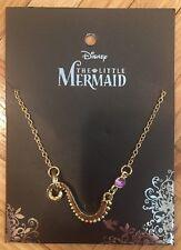 Disney The Little Mermaid Ariel Ursula Tentacle & Purple Gem Necklace NWT!