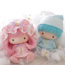 Little Twin Stars Soft Vinyl Doll Set Pajama Sanrio Kiki Lala Kawaii Japan F/S
