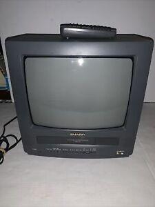 """Vintage Sharp 13VT-L100 13"""" Analog CRT Combo Color VCR TV"""