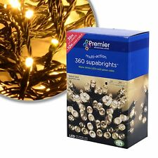 Premier 360 Multi Action Supabright LED Christmas Lights in Warm White 36m