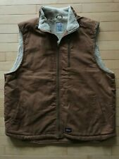 Dickies Sherpa Lined Work Vest Size XXL 50-52 Brown Canvas Feel