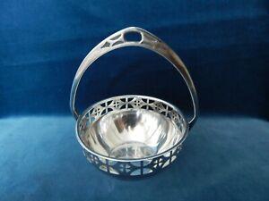 WMF Art Nouveau Silver plated basket c 1900.13 cm high,very good condition.