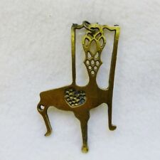 Chair Vintage Antique Bronze Large Pendant Bookmark Charm Accessory