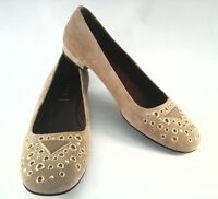 Prada Womens Suede Flats Shoes Loafers EU 38.5 US 8 Made in Italy EUC $690