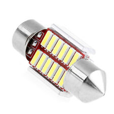 2Pcs x 31mm 4014 12SMD C5W LED Light Canbus Festoon Dome Car License Plate Lamp