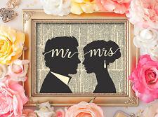 MR & MRS Wall Art Print Wedding Decor Engagement Anniversary Gift Decor UNFRAMED