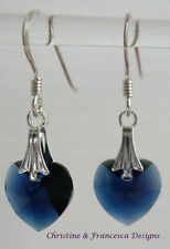 Heart Blue Costume Earrings
