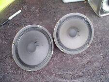 """Rare Vintage Sonics Japan 6 1/2"""" 8 ohm Midranges (Pair) from AS-447 Speakers"""