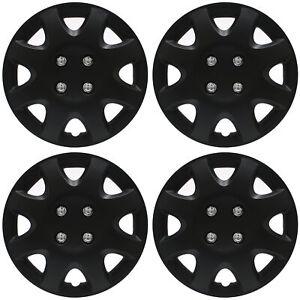 "BRAND NEW Hub Caps 4 PC Set ABS BLACK MATTE 13"" Inch Wheel Cover / Cap Covers"