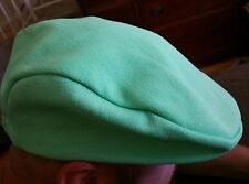 True Vintage  Green Golf Driving Pageboy Hat Handmade tag and embroidery inside