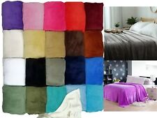 Sumptuous Light Winter Blanket Soft Throw 20 Solid Colors All Bed Sizes New!