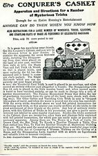 1926 small Print Ad The Conjurer's Casket of Mysterious Magic Tricks & Illusions