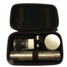 24-cup portable Communion set fabric case oil vial bottle bread tin bible space