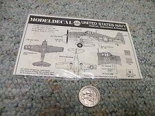 Modeldecal decals 1/72 US Navy Hellcat Dauntless Avenger   E120