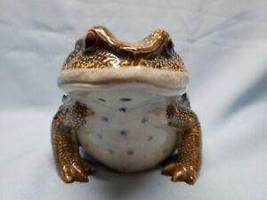 "Vintage ceramic frog LJ original 7"" from Japan Hirado style excellent"