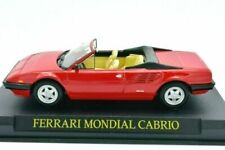 Ferrari Mondial, Cabrio - Red, Metal, Birthday, Cake, 1/43 Scale, Altaya.