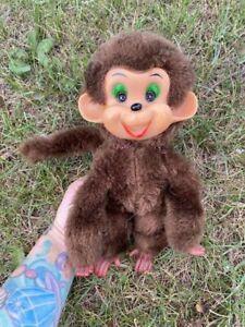 Vintage Monkey Doll Plastic Face Soft Body