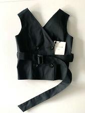 mackintosh NAVY COAT VEST TOP with belt usa8 NEW