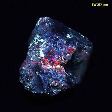 bb: Wickenburgite - Bright Red/Blue/Yellow FL from Type Locality in Arizona