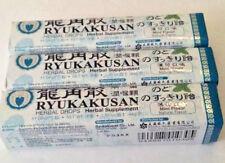 3 Pkg Ryukakusan Herbal Drops, Herbal Supplement, MINT FLAVOR @11 drops