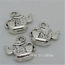 15pc Tibetan Silver teapot Charm Bead Pendant accessories Jewellery  PL860