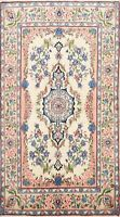 Vintage Floral Ivory Traditional Area Rug Wool Hand-knotted Oriental Carpet 4x6