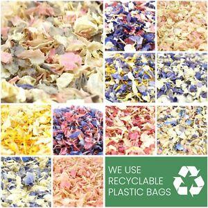 Luxury Dried Petal WEDDING CONFETTI Real Delphinium Petals Natural Biodegradable