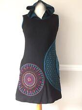 Etnika Slog Large 12 Festival Blue Black Mandala Hippy Dress Gringo Tunic Top