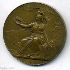 """Art nouveau French school """"Certificat d'études"""" 1935 *Bronze Medal* RARE - M.19a"""