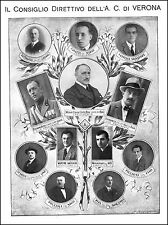 STAMPA 1927 AUTOMOBIL CLUB VERONA ACI  CONS. DIRETTIVO BERNINI CREMONESE MURARI