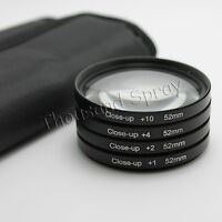 52mm Close Up Macro +1 +2 +4 +10 Lens Filter Kit For Nikon D3200 D5300 18-55mm