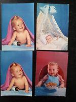 LOTTO 4 CARTOLINE BIMBI ANNI 60 E 70