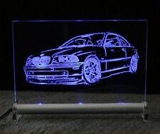 LED Leuchtschild mit BMW 3er e46 als Autogravur