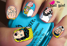 20 Mixed Set COOL CARTOON NAILS Nail Art Nail Decals Nail Transfers Nail WRAPS