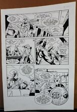 HAMMER OF GOD: PENTATHALON #1 PG. 22 1994 ORIGINAL ART-NEIL VOKES & JAY GELDHOF Comic Art