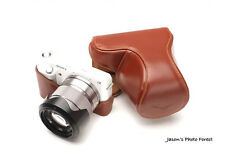 Handmade Vintage Brown Full Leather Case Camera Case Camera bag for Sony NEX F3