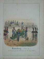 Litho Couleur BATAILLE KOENIGSBERG KALININGRAD 1807 RUSSIE RUSSIA NAPOLEON 1830