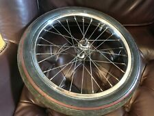 """Raleigh Chopper dimpled rim front wheel and Leo 16"""" red line tyre, nice original"""