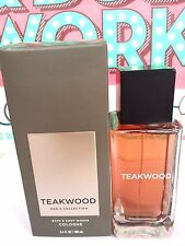 Bath and Body Works Men's Collection TEAKWOOD For Men Cologne Spray 3.4 oz